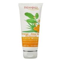 Patanjali orange aloe vera face wash