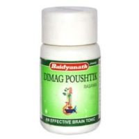 Baidyanath Dimag Poushtik Tablets are purely an Ayurvedic medicine , which is manufactured by baidyanath Ayurved Bhawan, which acts as a mental tonic to treat brain disorders , sleeplessness or hypertension etc. This medicine is purely made up of herbs, therefore it is 100% organic and it has no side effects as no chemicals have been used in its manufacturing.